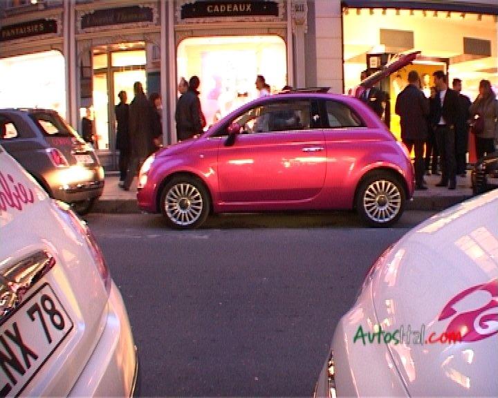 La Fiat 500 Barbie à Paris, chez Colette