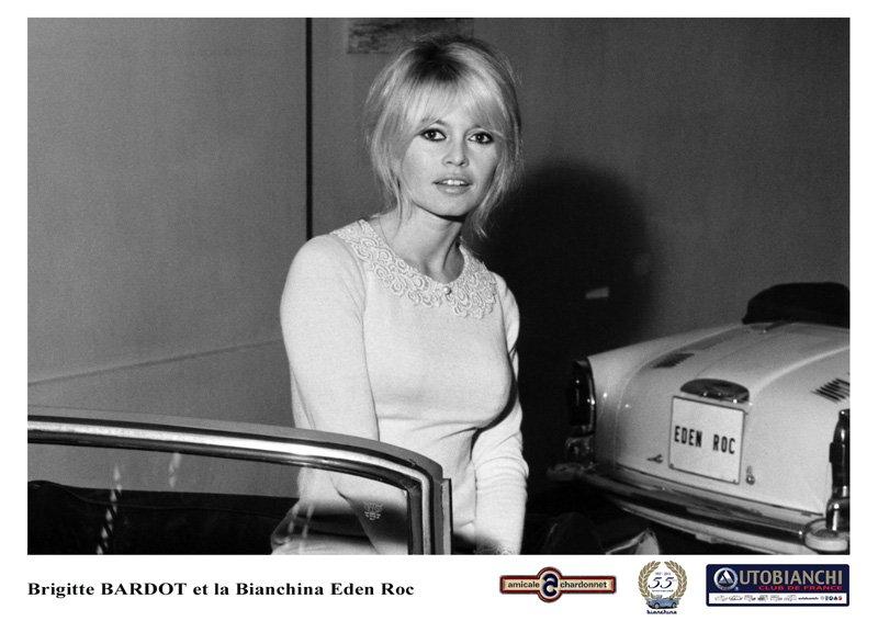 Brigitte Bardot et l'Autobianchi Eden Roc