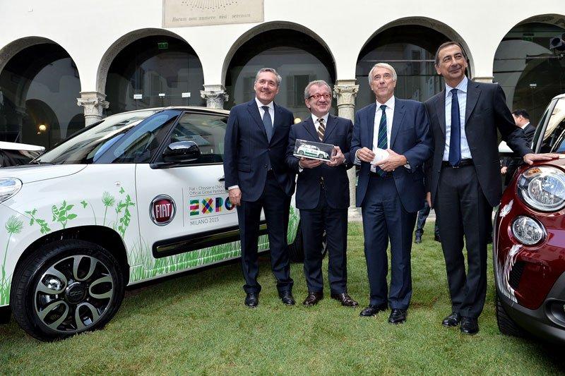 Livraison des quinze premières Fiat 500L pour l'Expo 2015