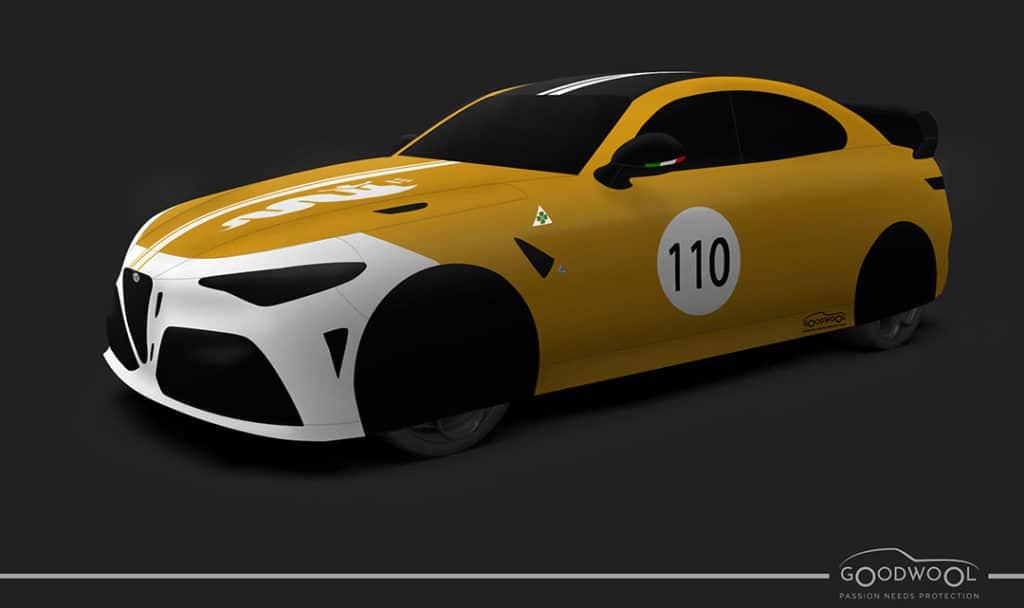 Housse Goodwool personnalisée pour Alfa Romeo Giulia GTA et GTAm