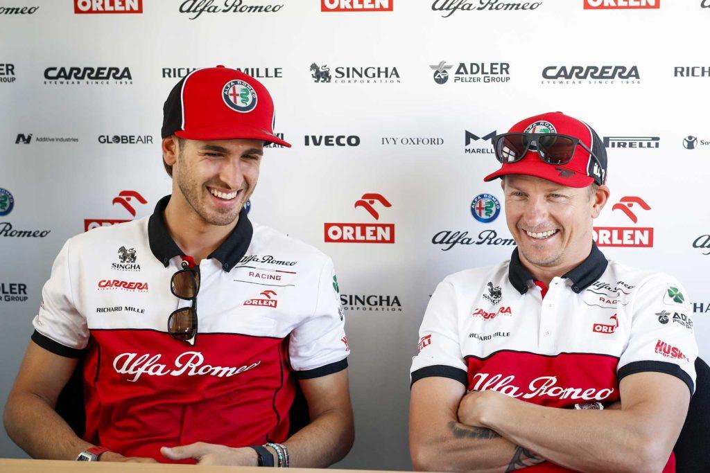 Antonio Giovinazzi  et Kimi Räikkönen