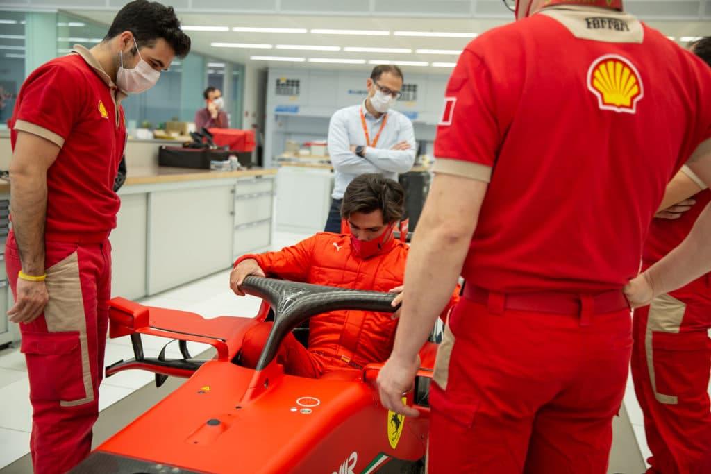 Première journée de Carlos Sainz à Maranello