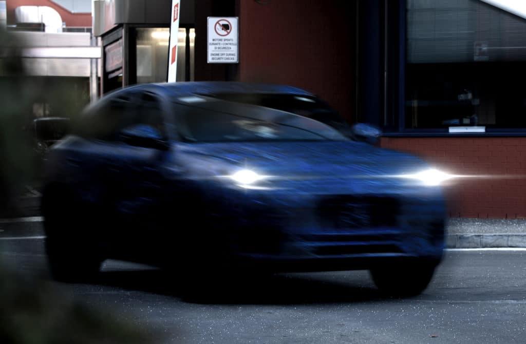 Premières images d'un prototype de Maserati Grecale