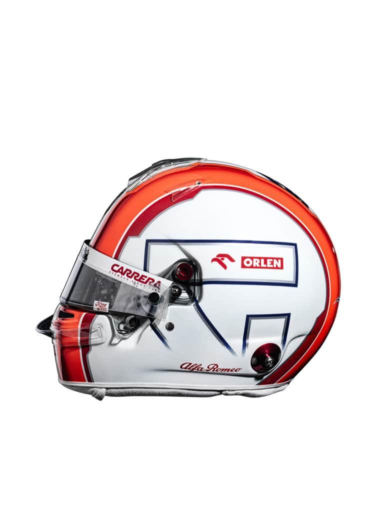 Le casque d'Antonio Giovinazzi pour la saison 2021 - Alfa Romeo Racing Orlen