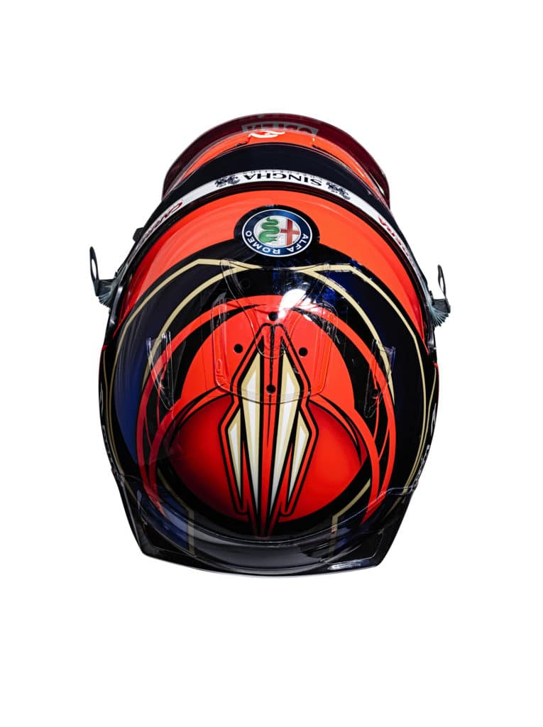 Le casque de Kimi Räikkönen pour la saison 2021 - Alfa Romeo Racing Orlen