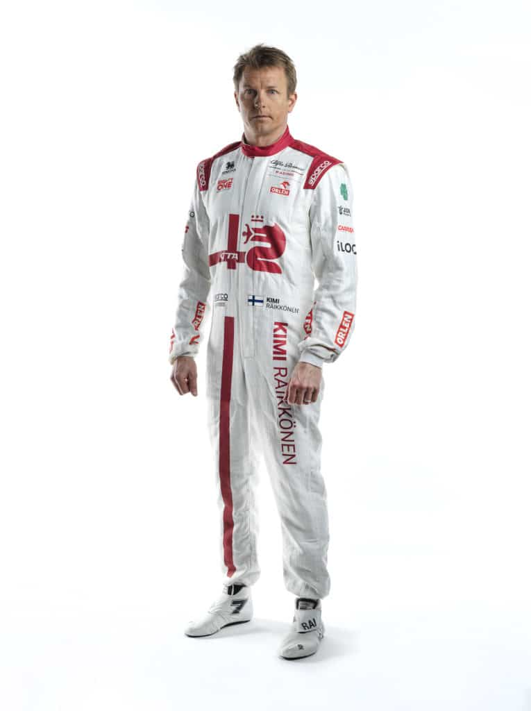La combinaison de Kimi Räikkönen pour la saison 2021 - Alfa Romeo Racing Orlen