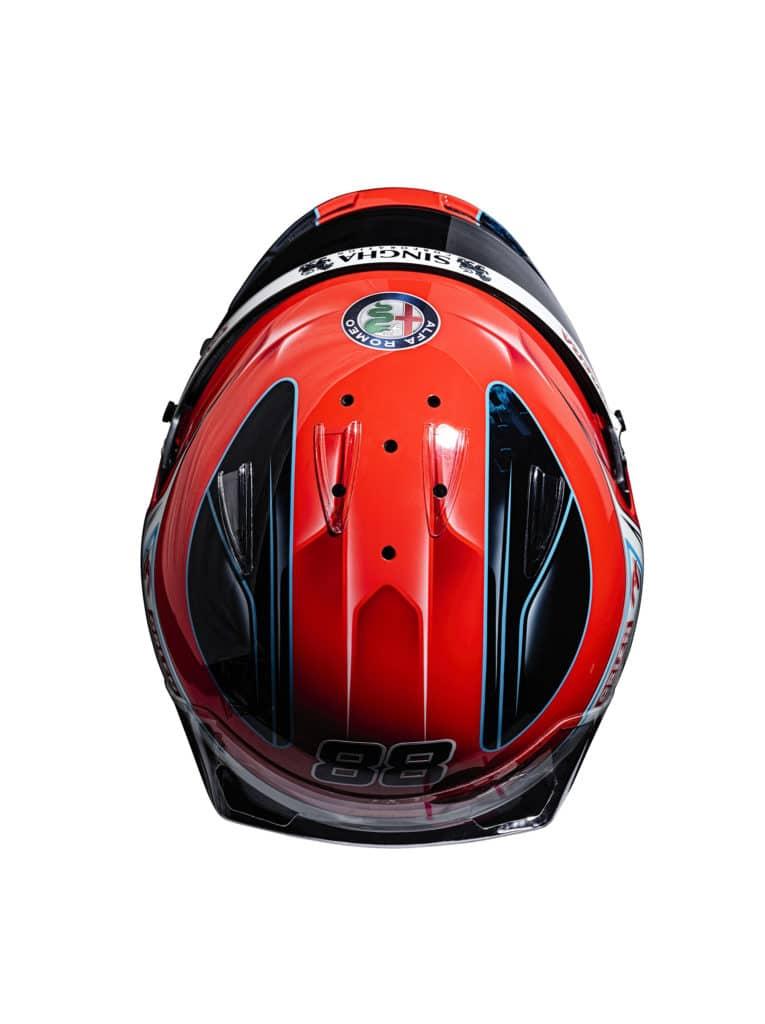 Le casque de Robert Kubica pour la saison 2021 - Alfa Romeo Racing Orlen