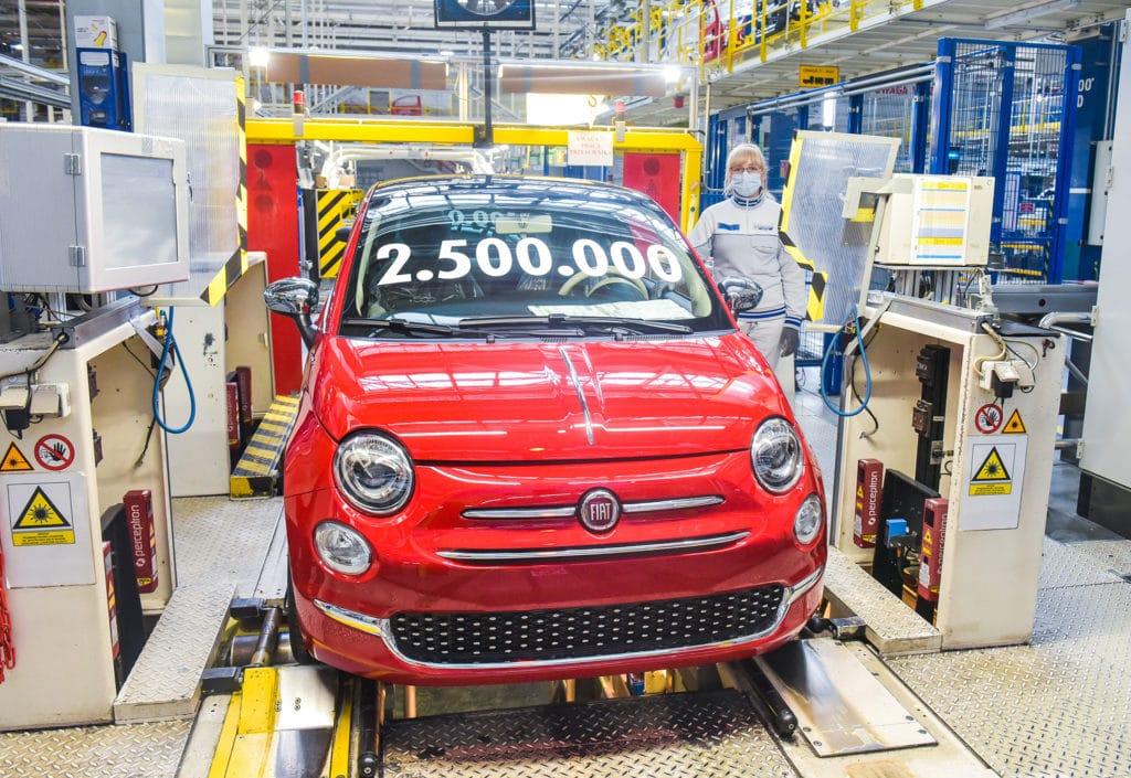 2,5 millions de Fiat 500 produites, nouveau record pour l'usine de Tichy