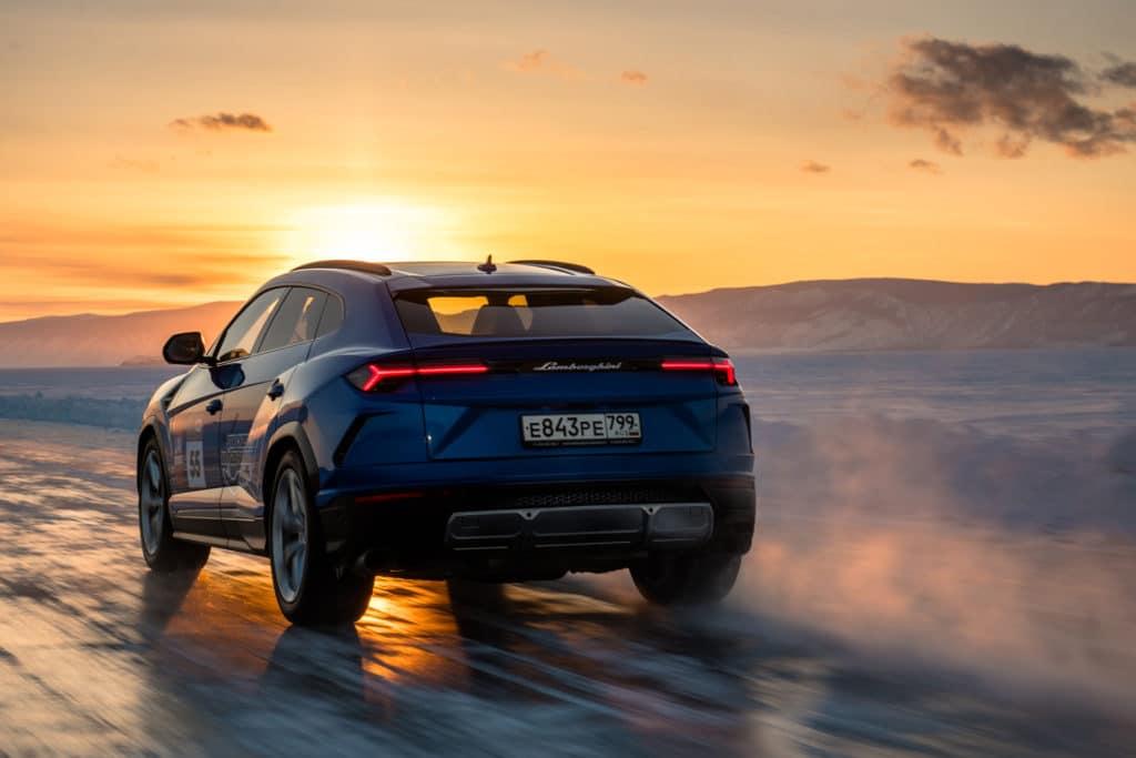 Lamborghini Urus, record de vitesse givré